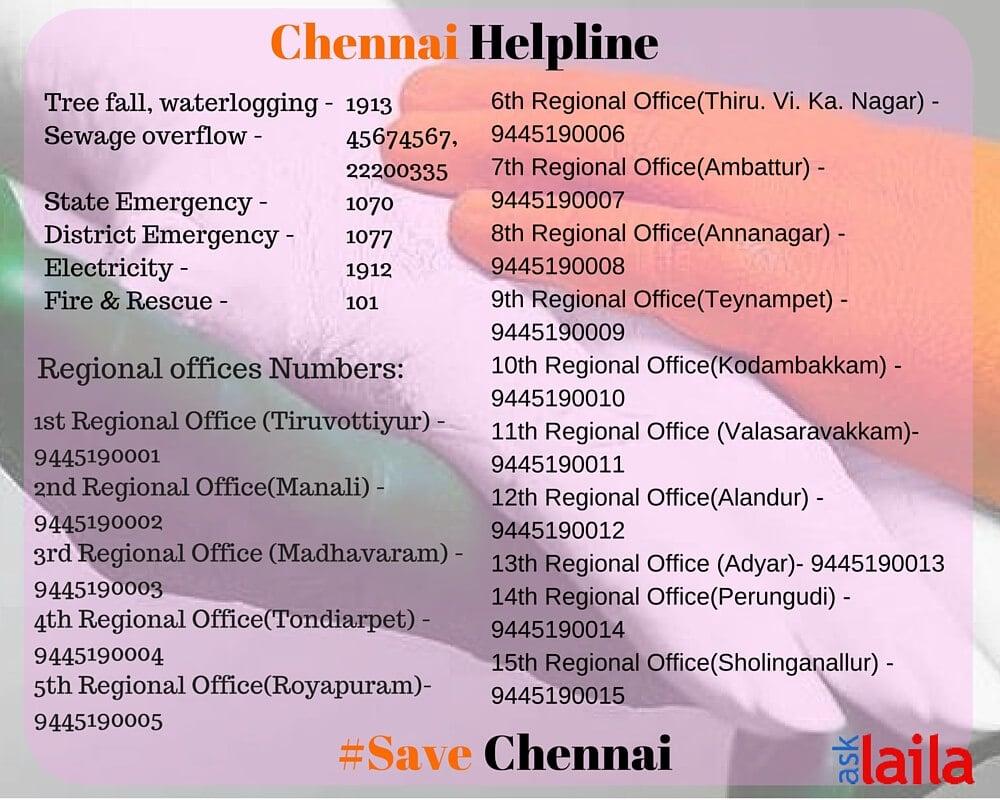 Chennai Floods HelpLine